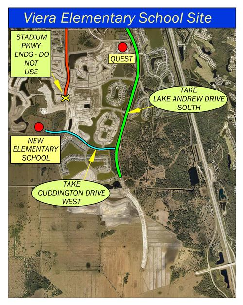Viera Elementary School Site Map