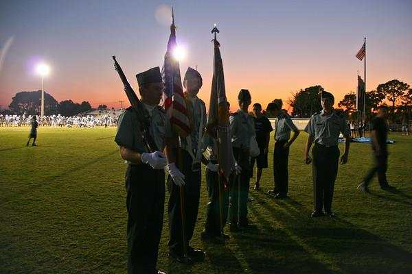jrotc men on fb field