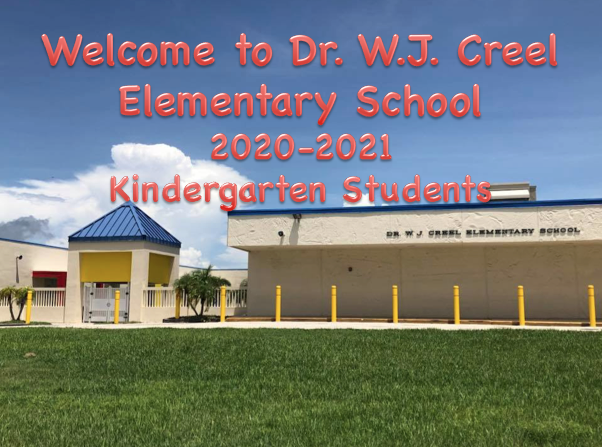 2020-2021 Kindergarten Virtual Orientation