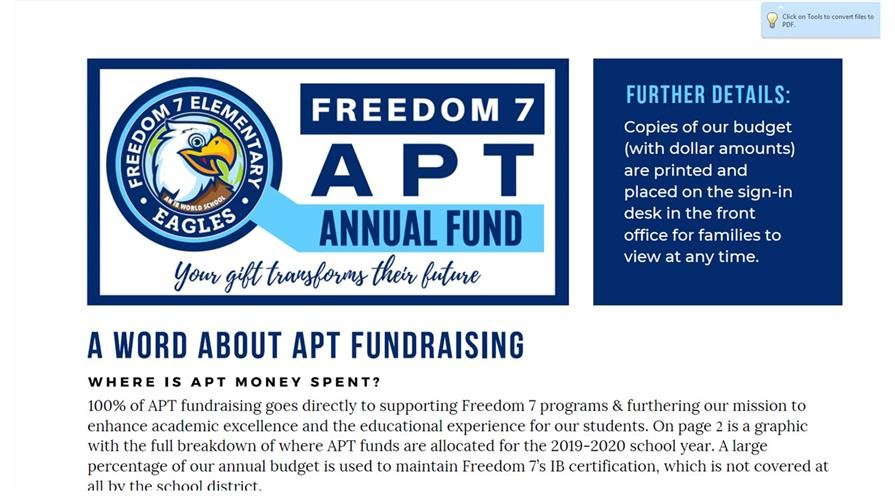 APT 2019-2020 Fundraising Projects