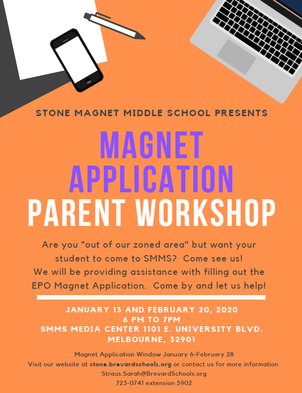 flyer for  stone  magnet parent night