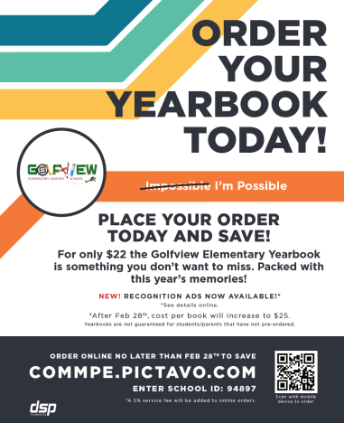 Order Your Golfview Year Book
