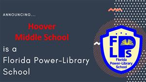 Graphic announcement of Hoover's Power Library status