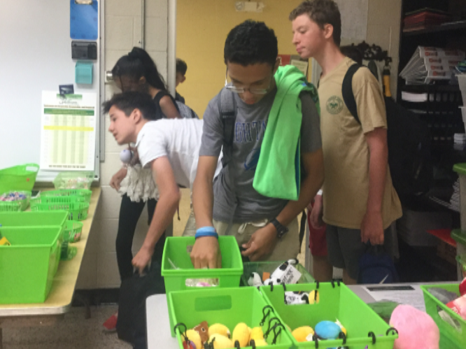 Students shopping at PBIS store