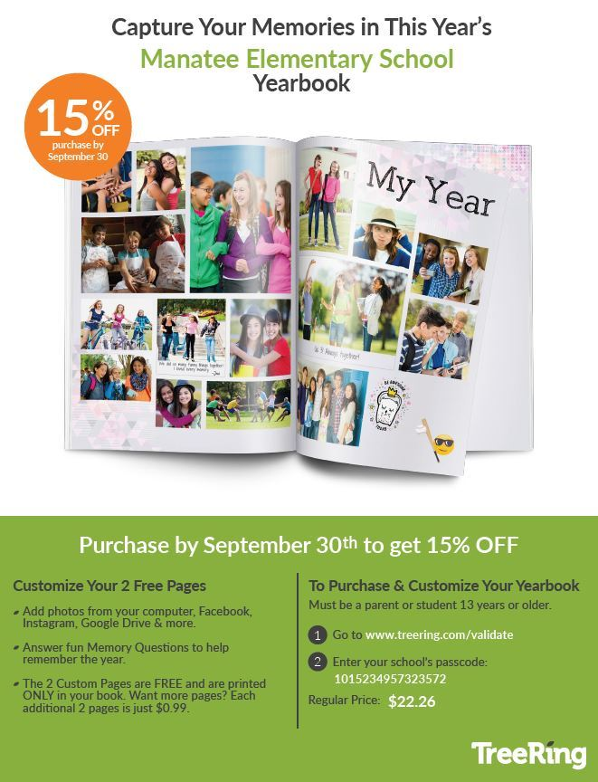 September Yearbook Pricing Sale