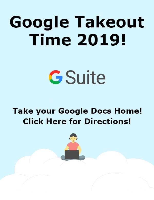 Save your work from Google G Suite