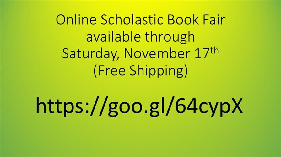 Online Book Fair Through 11/17