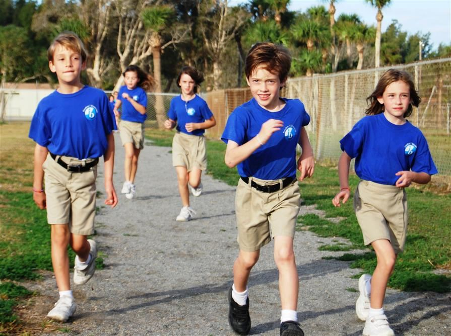 F7 Students Running