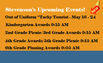Stevenson's Upcoming Events!
