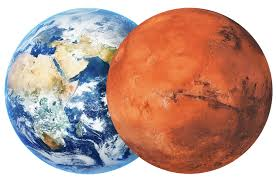 Picture Earth and Mars